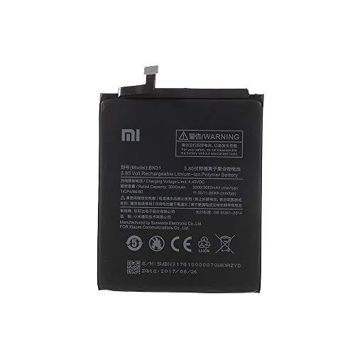 BEST2MOVIL BATERIA Interna BN31 3000 mAh Compatible con XIAOMI MI A1 / 5X / REDMI Note 5A / 5A Prime