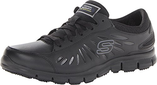 Skechers for Work Women's Eldred Work Shoe, Black, 7 M...