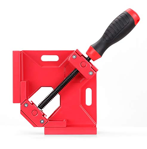 Right Angle Clamp, SEDY 90 Degrees Aluminum Alloy Corner Clamp, Right Angle Clamping Tool with Adjustable Swing Jaw Great for Framing, Drilling, Doweling, and much more, Quick and Precise