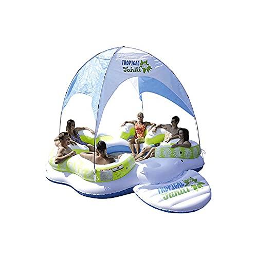 tyui Cama Flotante Inflable, hilera Flotante Inflable, Inflable, Plataforma de Ocio Inflable, Adecuado para Piscina, Hamaca de Agua Inflable