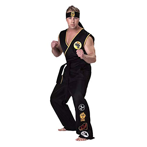 Karate Kid Cobra Kai Cosplay Conjunto De Ropa De Karate (Top + Pants + Belt + Headband)