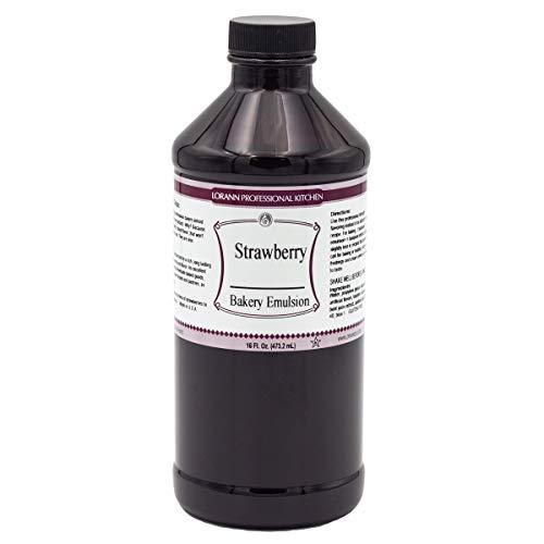 LorAnn Strawberry Bakery Emulsion, 16 ounce bottle