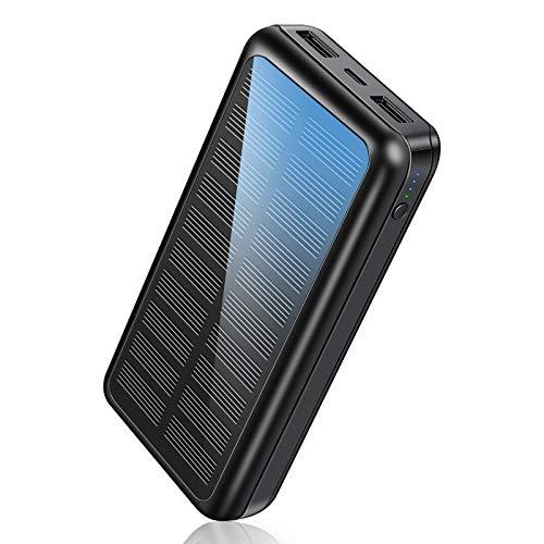 Soluser Power Bank 30000mAh Schnelles Aufladen Tragbares Ladegerät mit USB-C Eingang, Externer Akku mit Automatische Erkennen Technologie Solar Powerbank für iPhone, Samsung, Huawei, iPad und mehr