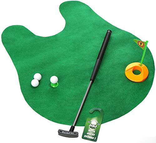 com-four Set de Golf 8 pièces pour Toilette, avec Club de Golf 65 cm