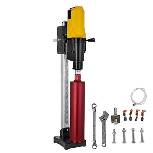 Happybuy Diamond Core Drilling Machine 10 Inch 255mm Diamond Core Drill Rig with Stand and Drill Bits Wet Dry Core Drill Rig for Diamond Concrete Drilling Boring (Drill Bit Diameter: 4.25
