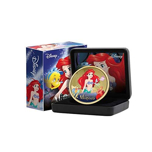 IMPACTO COLECCIONABLES Disney The Little Mermaid Classics Collection - Moneta da Collezione 65mm placcata Oro 24 carati