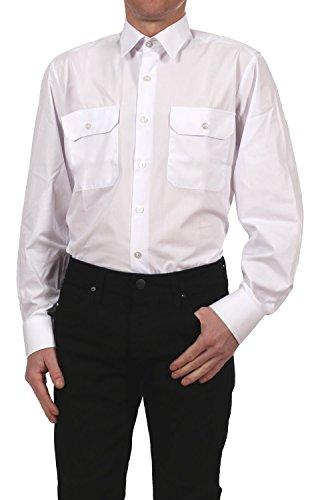 kawako Petermann Pilotenhemd/Oberhemd/Diensthemd Feuerwehr 1039181-1 Langarm in weiß, Kragenweite:45