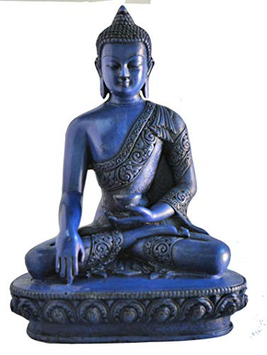 mytibetshop Earth Touching Buddha Statue for Meditation, Alter and Home.i Indoor or Outdoor