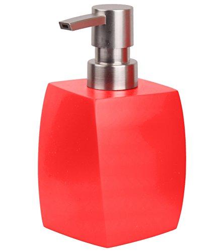 Seifenspender Wave Rot | ein Blickfang für jedes Badezimmer | modernes Design | stabile Qualität