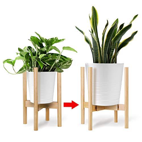 Kohree Soporte para Plantas, Soporte de Plantas expandible Retro Soporte para exhibición de macetas para Flores Estante en Maceta para Interiores y Exteriores Jardinera de hasta