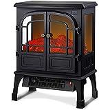 GuoYq Chimenea Electrica 1800W, Calentador de Chimenea Electrónico de Llama de Simulación de Fuego...
