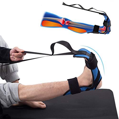 Cinturón de estiramiento de yoga Banda elástica de pie y pierna Banda elástica de ligamento en bucle Se utiliza para fascitis plantar para mejorar la fuerza y aliviar el dolor de tendinitis de Aquiles