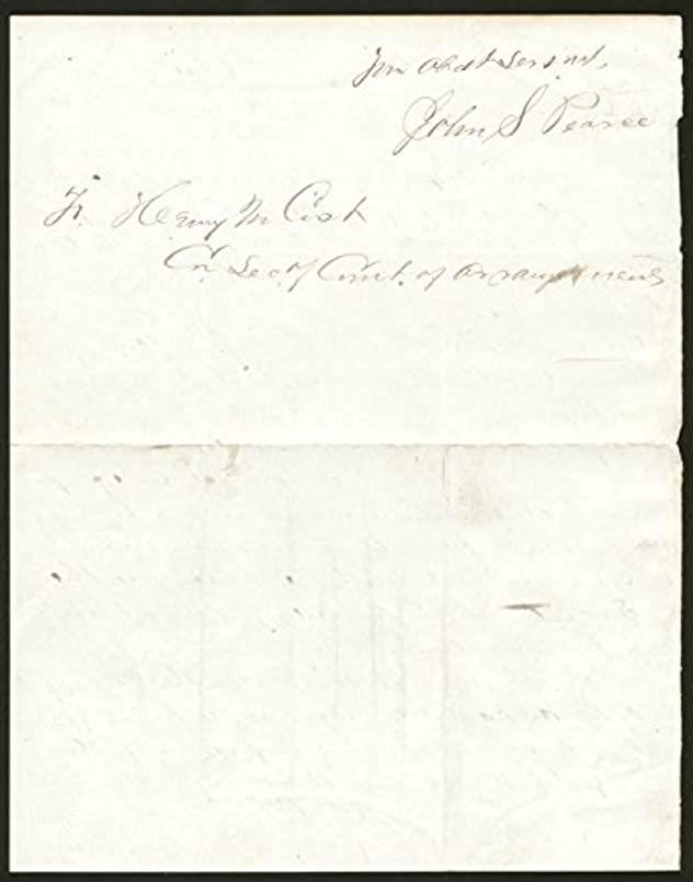 General John S. Pearce - Autograph Letter Signed 01/16/1868 pu098605179