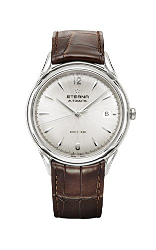 Eterna Heritage 1948 Gent Automatik Uhr, SW 300-1, 40mm, 5atm, Kaiman, Silber