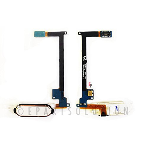 ePartSolution_Home Button Module Flex Cable Menu Key for Samsung Galaxy Note 4 N910A N910T N910V N910P Replacement Part USA Seller (White)