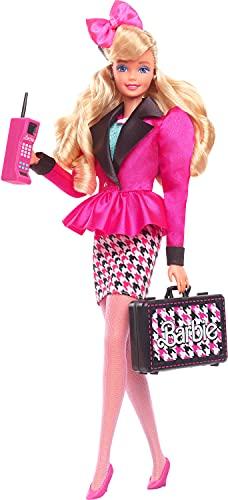 Barbie Rewind Ejecutiva Muñeca rubia con ropa de oficina y complementos de juguete, estilo retro (Mattel GXL24)