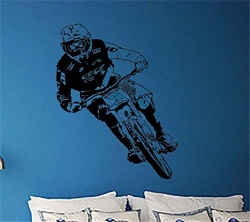 Kamer Muurstickers citaten Gee Atherton muur Art Sticker Downhill Mountainbikes UCI fietser Decal voor jongens slaapkamer 19.5x19.5 inch