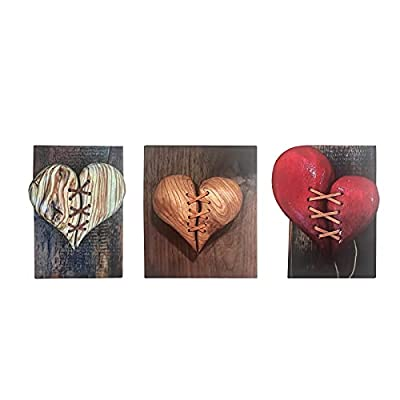 Amazon - Save 80%: Heartbreak Leather Stitched Wall Decoration Gifts, Hand-carved Acryli…