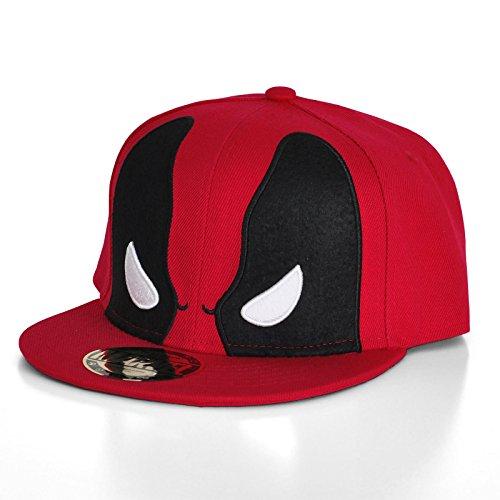 Elbenwald Deadpool Snapback Cap Basecap rot