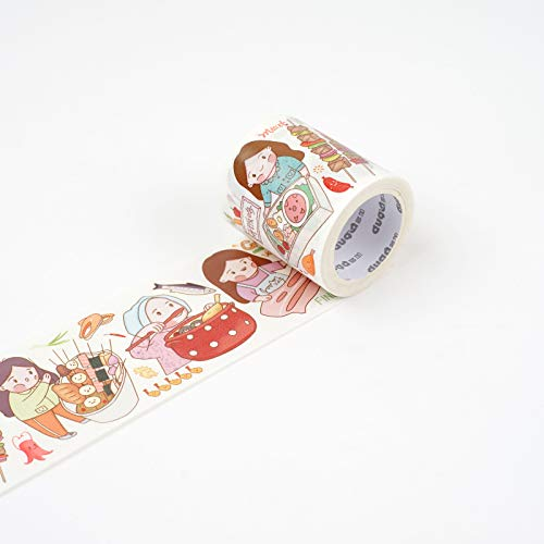 JIAODIA Dekoratives Washi Tape Original Tasche Papier Band Charakter niedliche mädchen Herz ganze Volumen kreative manuelle DIY dekorative Aufkleber konto Material Werkzeug rohrstock Aufkleber Farbe