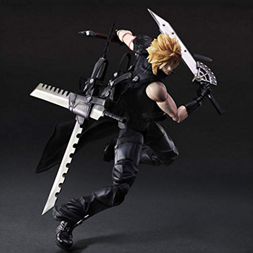 Luckly77 Cloud Strife Figura de acción Final Fantasy XV Remake exquisito embalaje figura decoración regalos de Pascua