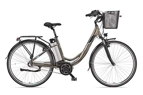Telefunken E-Bike Damen 28 Zoll Elektrofahrrad - 3-Gang Shimano Nabenschaltung, Pedelec Citybike Alu mit Mittelmotor 250W /10,4Ah / 36V Sitzrohrakku, RC865 Multitalent