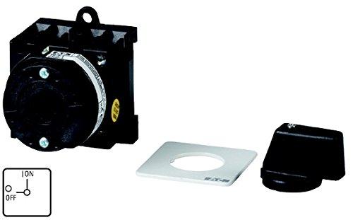 Eaton 013046 Ein-aus-Schalter, 3-polig + N + 1 Schließer + 1 Öffner, 20 A, 90 °, Zwischenbau, Basisschalter