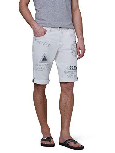Camp David Herren 5-Pocket Shorts mit vielen Logo Prints