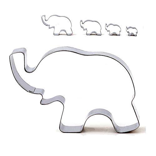 Ausstechformen, Motiv: Elefant, Keksform, DIY-Backwerkzeug, 4 Stück