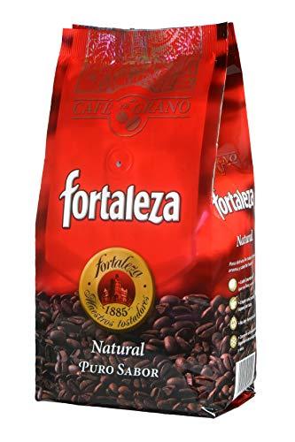 Café Fortaleza - Café en Grano Natural, Puro Sabor, de Variedades Arábicas, Intensidad Media, Aroma Herbal y Afrutado, Ideal para Cafeteras Espresso, Pack 3x250g