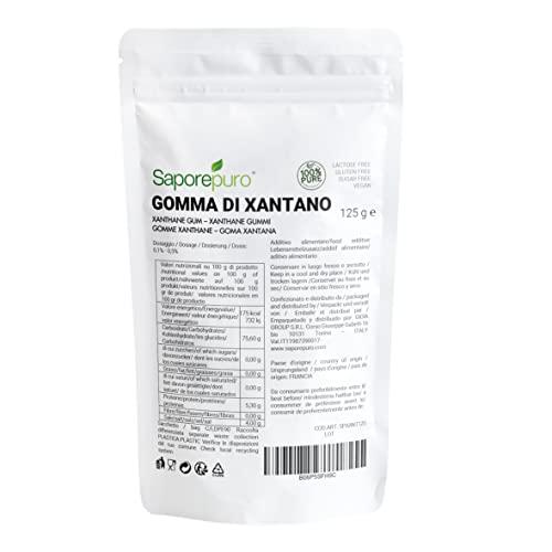 Xanthane en poudre - Idéal pour la crème glacée, les sauces, mixologie, cuisine moléculaire, les nappages et les sorbets - 100% pur - 125 gr