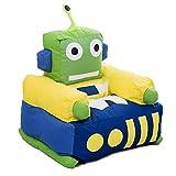 Cushion I Bambini Poltrona di Nylon della Copertura del Panno di Particelle EPS Riempito Tema del Robot Verde Sedia Poltrona Camera Area Giochi per Bambini,Color,52X65X75CM
