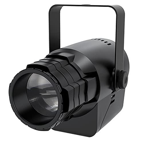 UKing Foco LED con efecto de luz para fiestas, 3 patrones y 5 colores RGBWY, DMX512, pinspot, luz de escenario, para DJ Bar Club iluminación de fiesta Navidad