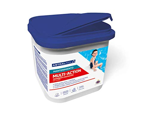 Astral Pool Cloro para Piscina multiaccion (Multifuncion) 5kg, tabletas 250g