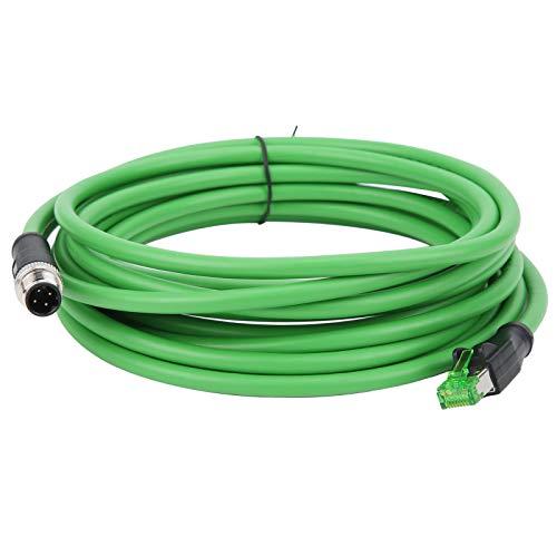 Industrielles Ethernet-Kabel M12 zu RJ45 M12 D-Code 4-poliges Steckerkabel IP67 Wasserdichtes Verbindungskabel - 5 m