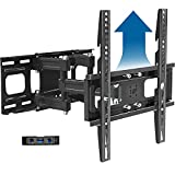 Full Motion TV Wall Mount Bracket Height Setting Dual Swivel Articulating Arms Extension Tilt Rotation, JUSTSTONE Fits Most 26-65 Inch LED, Flat&Curved TVs, Max VESA 400x400mm and Holds up to 121lbs