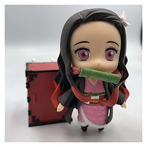 Figura Juguete Demonio PVC Figuras de acción Nezuko Anime Kimetsu Figurine Modelo Juguetes Figura Juguete (Color : N OPP Bag)