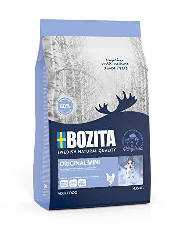 Bozita Original Mini Hundefutter - 4.75 kg - nachhaltig produziertes Trockenfutter für erwachsene Hunde kleiner Rassen - Alleinfuttermittel