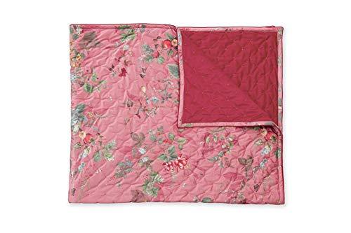 Pip Studio Bettüberwurf Fall in Leaf Quilt Double Größe 250 x 260cm Farfbe Pink
