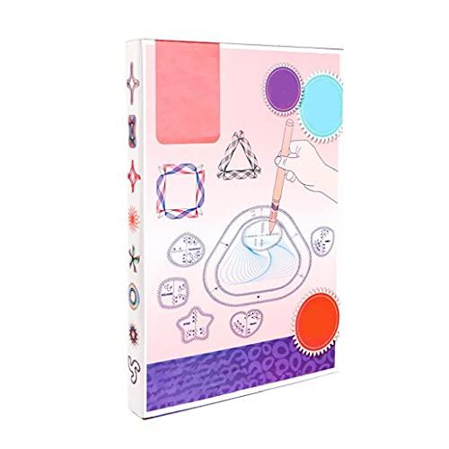Kacniohen Espirógrafo Conjunto de dibujos-18PCS, Engranajes Pintura Espiral mágico Dibujo de Herramientas de plástico Pintura Plantilla Regla Kit para la Escuela Niños Inicio Creative Wanhua Regla