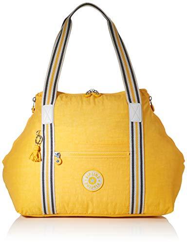 Kipling ART M Bolsa de tela y playa, 58 cm, 26 liters, Amarillo (Vivid Yellow)