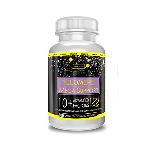 41gJH215tLL. SL500  - Actif Telomere Mega Support with 10+ Factors, Non-GMO, for Energy, Memory and Anti-Aging Support, Made in USA, 60 Count