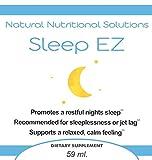 Sleep EZ - Liquid Melatonin with B6 and Theanine - Natural Sleep Aid - Helps You Rest Peacefully, Wake Up Energized