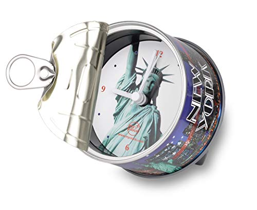 My Clock MyClock Horloge de table avec Aimant, My Clock personnalisable, Photo-cadeau, Cadre d'image, Souvenir, DIY Deco - New York