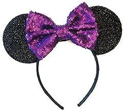 Purple Mickey Ears, Sparkly Mickey Ears, Purple Minnie Ears, Rainbow Ears, Minnie Ears, Rose Gold