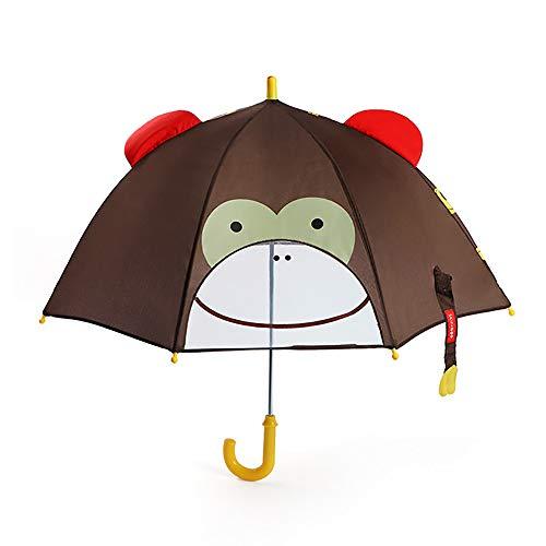 Jiawawa Children's Umbrella 3D Animation Creative Long-Handled 3D Ear Modeling (Monkey)
