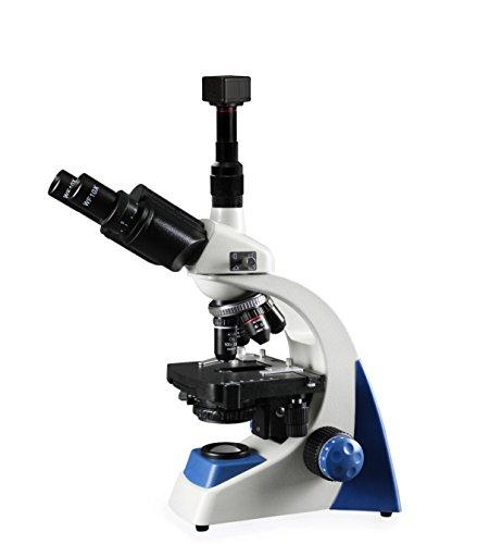 VIsion Scientific VMU0005-TT-5NN Trinocular,10x WF Eyepiece,40x—1000x Magnification,LED Illumination, Coaxial Coarse & Fine Focus,Mechanical Stage,1.25 NA Abbe Condenser,5.0MP Digital Eyepiece Camera
