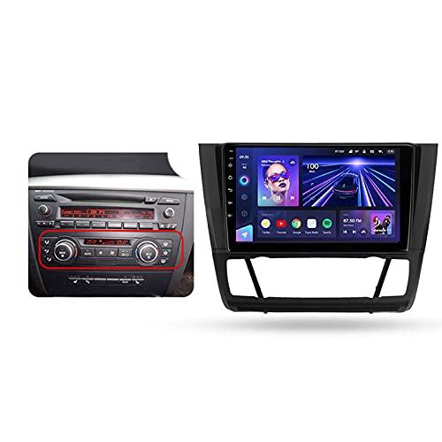 Estéreo de coche con 9' Screen Android 10 para BMW 1 Series 2004-2011,con BT/GPS/Control del volante/Cámara de respaldo/Mirror Link/4GLTE+5GWIFI/3D Dinámica de conducción en tiempo real,B,6+128G
