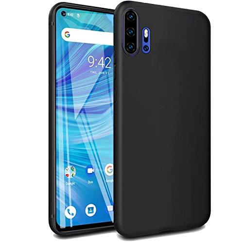 cookaR Crystal Clear UMI Umidigi F2 Hülle, Transparent Silikon TPU Hülle Superdünn Soft Cover Handyhülle Schutzhülle für UMI Umidigi F2 Smartphone, Schwarz
