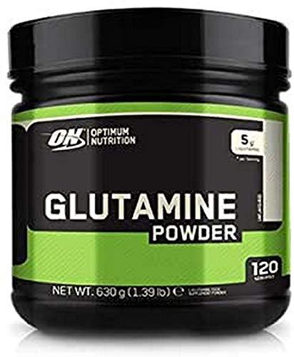 Optimum Nutrition Glutamine, Acide Aminé l Glutamine en Poudre, Complement Alimentaire pour Musculation, Non Aromatisé, 120 Portions, 630g